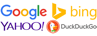search engines,duckduckgo,google,bing