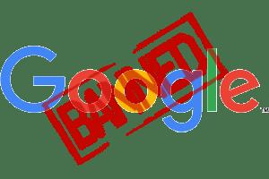 google banned,google penalty